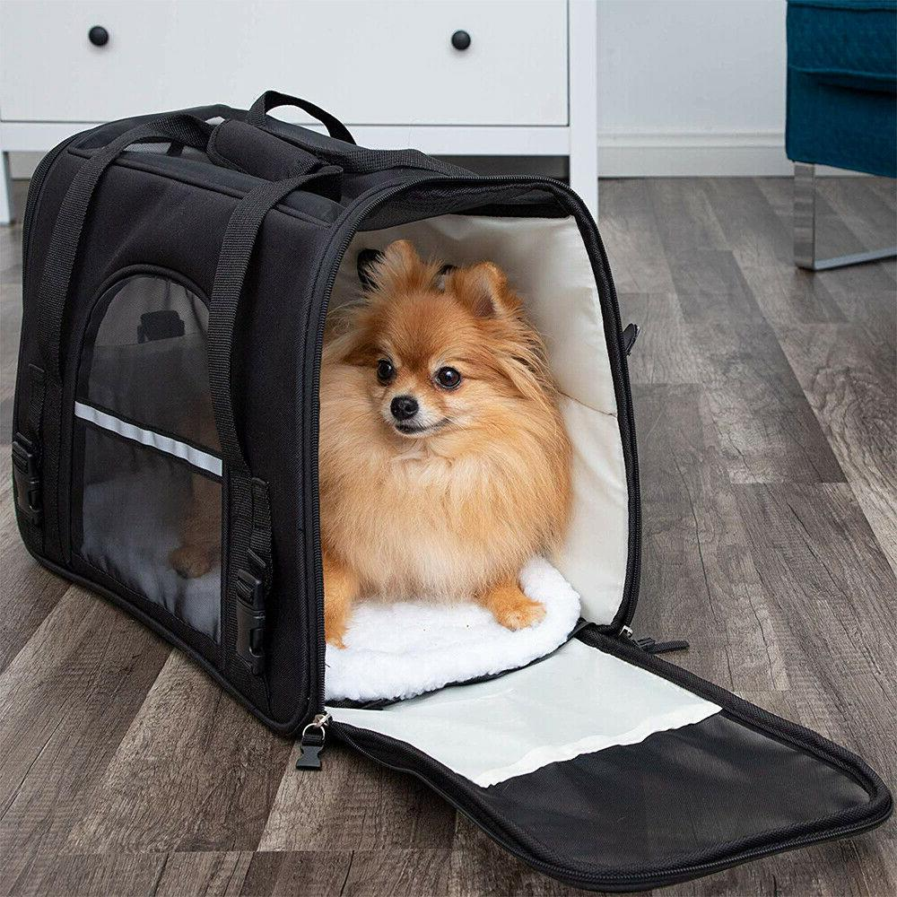 Pet Small Cat Carrier Soft Comfort Travel Case Approved US