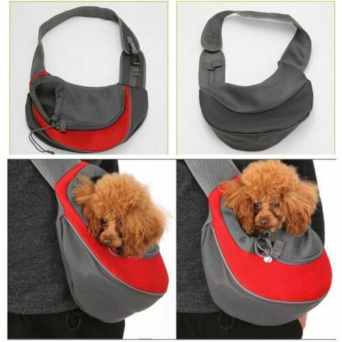Pet Carrier Dog Pouch Sling Mesh Backpack Shoulder Bag