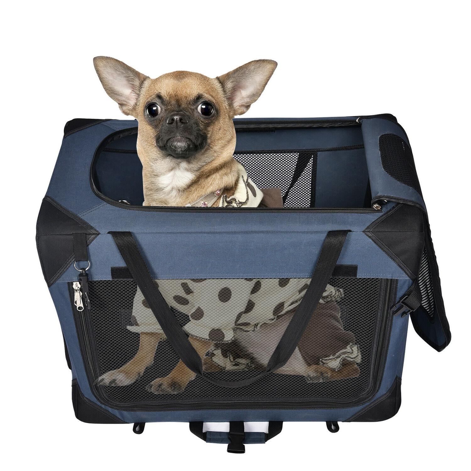 Pet Dog Crate Soft Travel Foldable