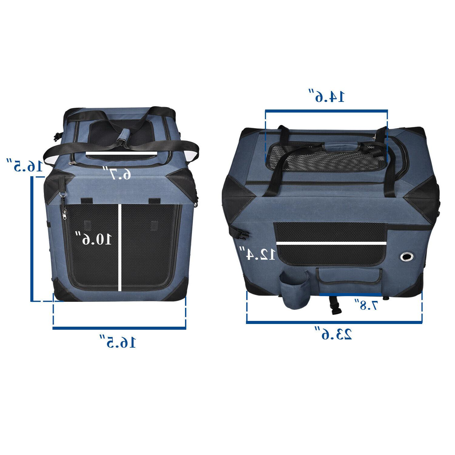 Pet Crate Soft Travel Outdoor Use Foldable