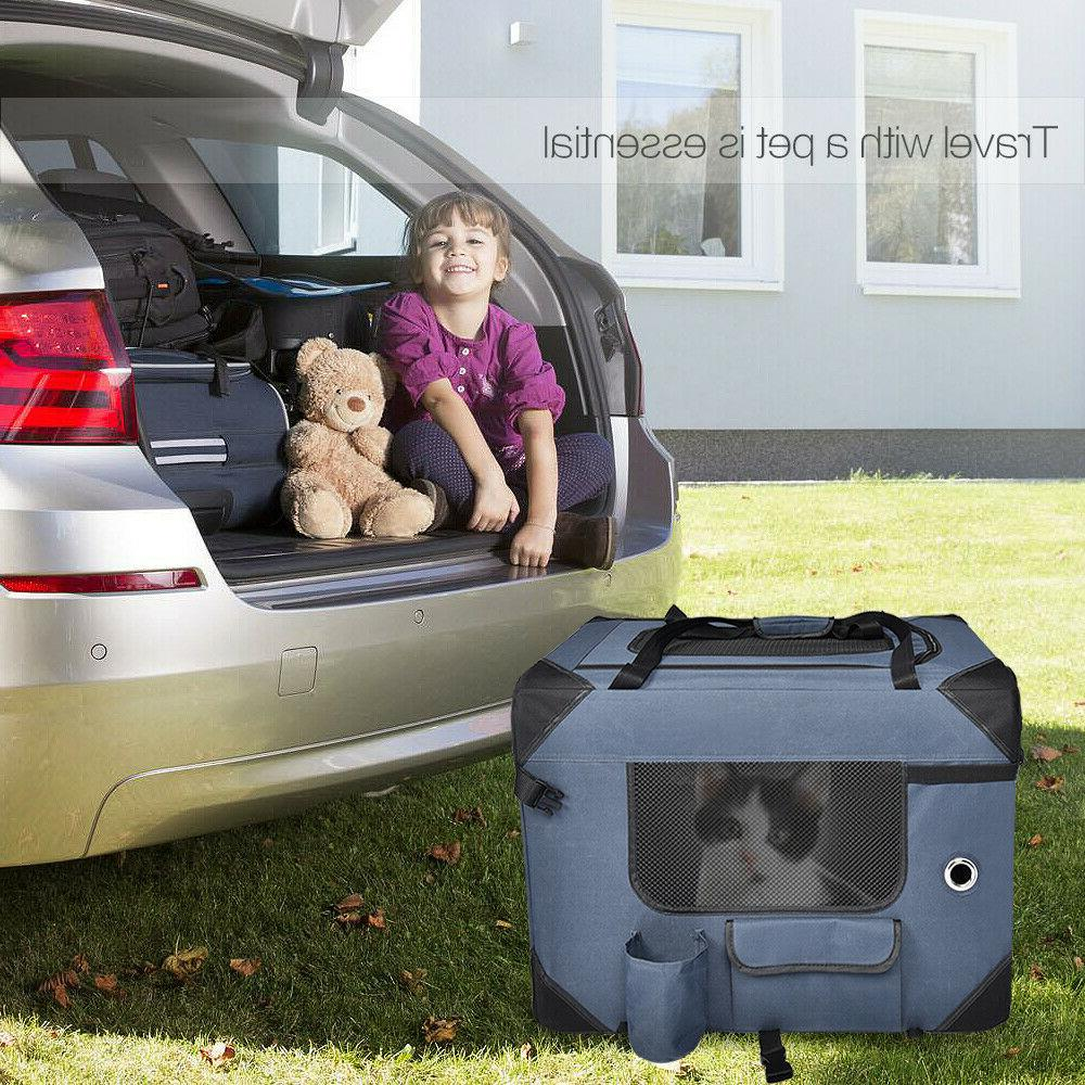 Pet Crate Breathable Travel Home Outdoor Foldable