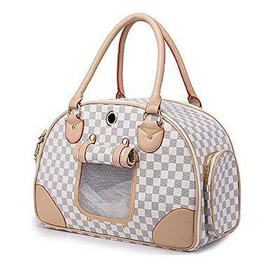 pet dog carrier pu leather