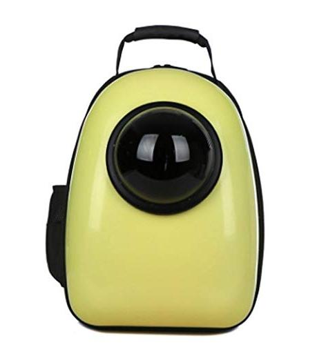 shine-hearty Pet Portable Breathable Cat Backpack Pet Supplies,Yellow,32x26x44