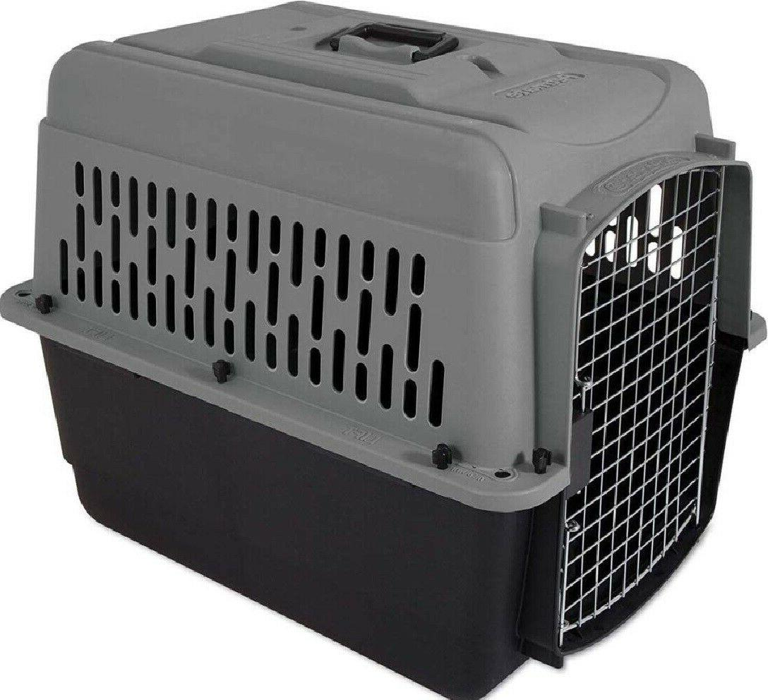 Petmate Heavy-Duty Pet Carrier Crate Storm Gray/Black 25 - 30