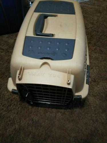 plastic pet small dog cat kennel crate