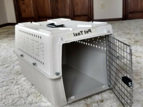 Portable Cat Chrome Crate Pet Carrier