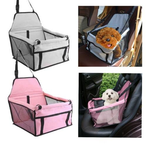 portable dog car seat belt booster travel