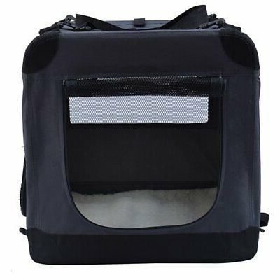 Portable Crate Travel Foldable Pet Training Crate Kennel Carrier