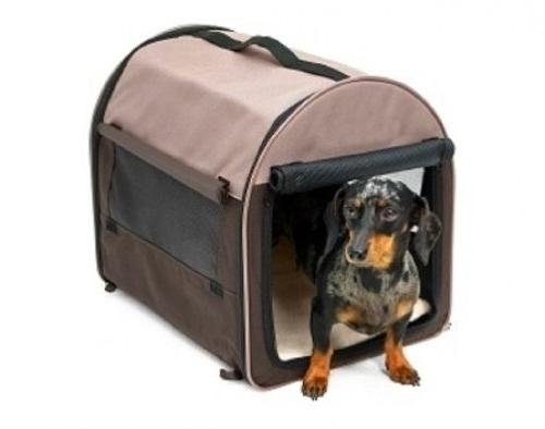 Petmate Portable Pet Home, Mini, Khaki/Navy