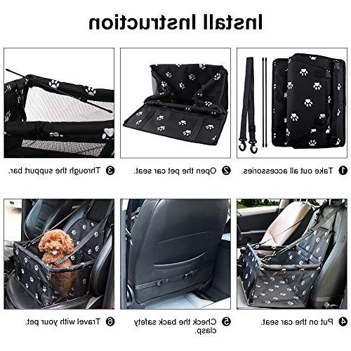 Petbobi Pet Booster for Dog Cat and Bag with Cute Style Carrier Travel Look Pockage
