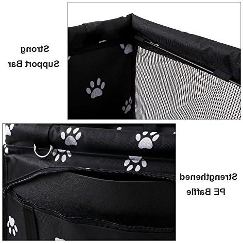 Petbobi Pet Booster Seat Cat Breathable Bag Seat Belt Cute Style Carrier Stable Travel Look Out,with Clip on Pockage