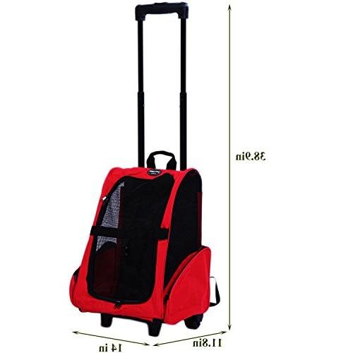 Pettom Pet Carrier Trolley Dogs Cats Easy Walk Travel Tote