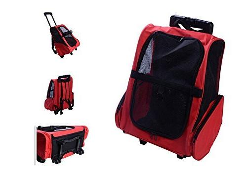 Pettom Roll Around Pet Carrier Trolley Cats Tote Approved