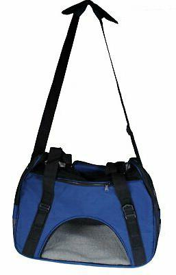 """S4O 8"""" x 11"""" Sided Travel Carrier Dog Tote - Blue"""