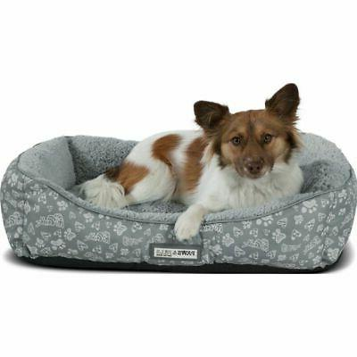 Paws Self-Warming Machine Washable Bolster Cat & Dog Bed