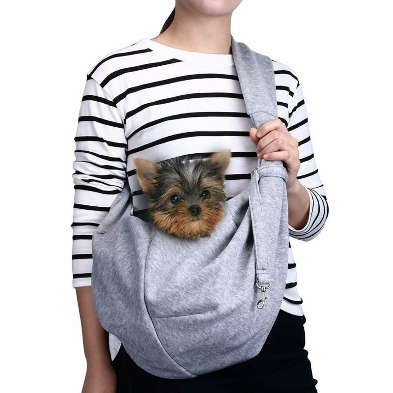 Tomkas Small Dog Cat Carrier Sling Hands Free Pet Puppy Outd