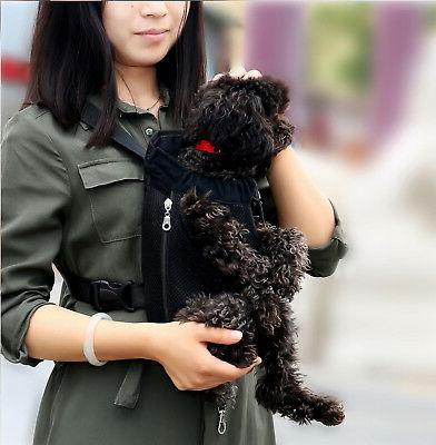 Small Pet Dog Carrier Hiking Backpack Out Black