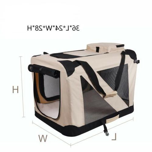 Dog Carrier Folding Soft Dog Crate, Indoor & Outdoor Home,
