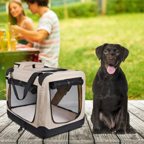 Dog Folding Dog Crate, Indoor Pet Home,