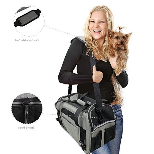 "Jespet Soft for Small Cats, Puppy, 17"" Airline Portable Airline, Train, Smoke Gray"