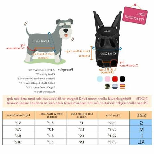 PAWABOO Pet Front Cat Dog Hiking Adjustable Legs Out