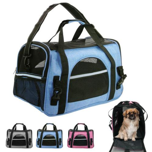 soft sided cat dog comfort travel tote