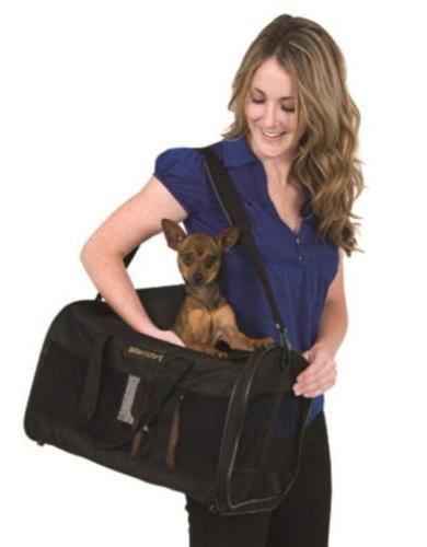 Petmate Soft-Sided Kennel Cab Pet Cat Dog Carrier Top Black