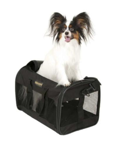Petmate Soft-Sided Pet Top Loading Two Black