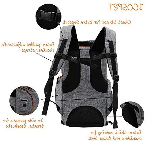 ICOSPET Soft-Sided Backpack Small and Airline-Approved, for Travel, Hiking, & Outdoor