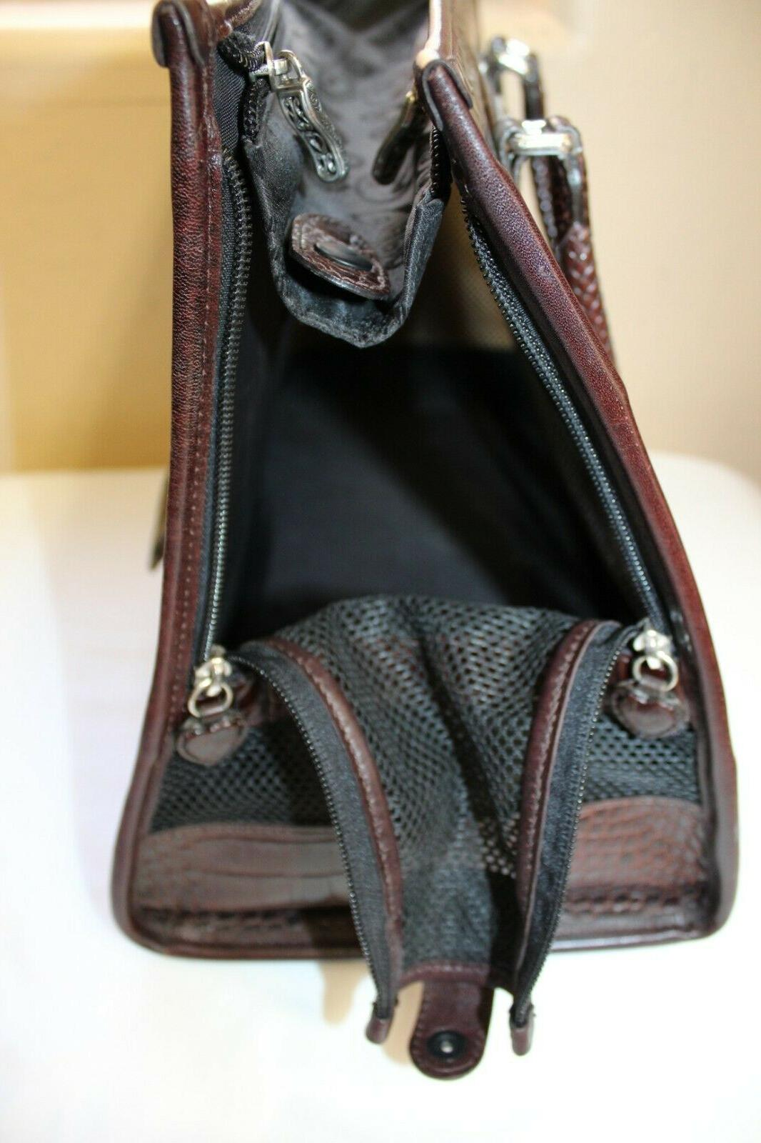 Brighton Travel Carrier Brown Tote