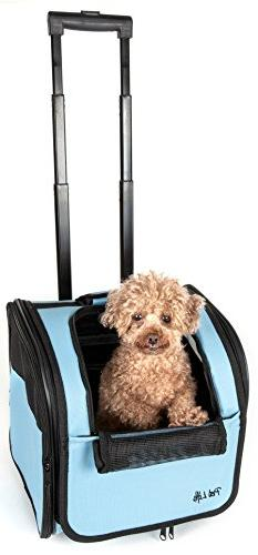 PET LIFE Wheeled Collapsible Breathable Airline Approved Tra