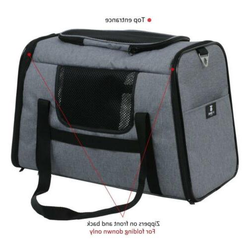 X-ZONE Pet Carriers,Comes with Carbon black