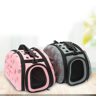 zipper lock foldable small dog cat carrier