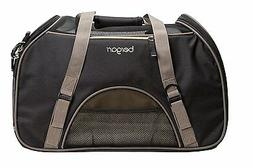Bergan LARGE Comfort Carrier, Black / Brown, for small Pets,