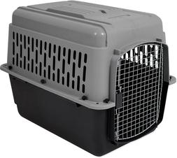 Large Dog Cat Pet Carrier Crate Travel Cage Gray Black 30-50