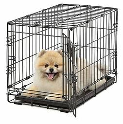Large Dog Pet Crate Cage Kennel Foldable Door Safe Portable