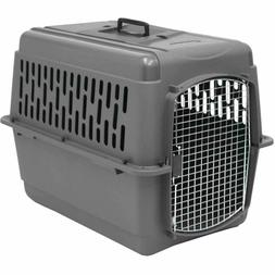 Large Pet Cage Dog Cat Travel Plastic Portable Kennel Safety