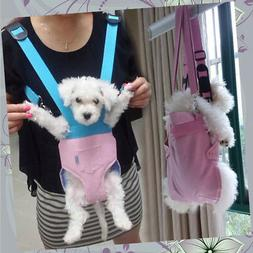 Leather Small Pet Carrier Breast Bag Front & Backpack for Tr