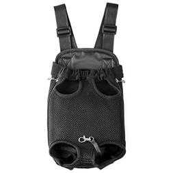 GEEPET Legs Out Front-Facing Dog Carrier Hands-Free Adjustab