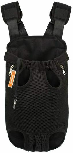 Legs Out Front Dog Carrier Hands-Free Adjustable Pet Backpac
