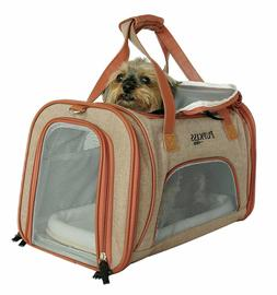 Luxury Airline Approved Pet Carrier. Sturdy Dog & Cat Carrie
