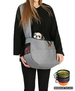 RETRO PUG Travel Mate Pet Carrier Sling Bag - Purse - Front