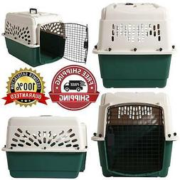 Med Dog Crate Cage 25-35 Lbs Travel Plastic Airline Approved