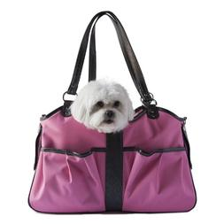 Petote Metro Dog Carrier Bags with 2 Open Pockets, Fuschia P