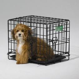 midwest icrate folding double door dog crate