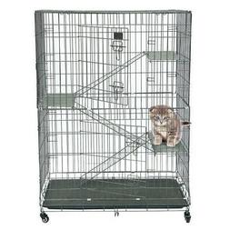 New Dog Carriers Large Fold Pet Cat Wire Cage Indoor Outdoor