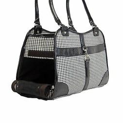 NEW Fashion Houndstooth Print Pet Dog Animal Soft Tote Bag C