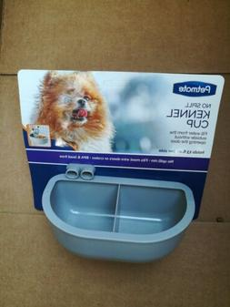 New Petmate Gray Kennel Bowl Double Diner 13oz