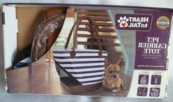 NEW Heart To Tail Small Pet/Dog Carrier Tote Travel Bag Purs