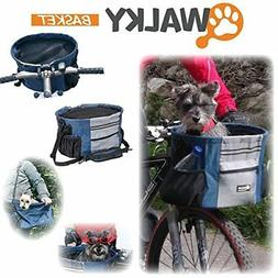 NEW Walky Basket Pet Dog Bike Basket & Carrier Click release